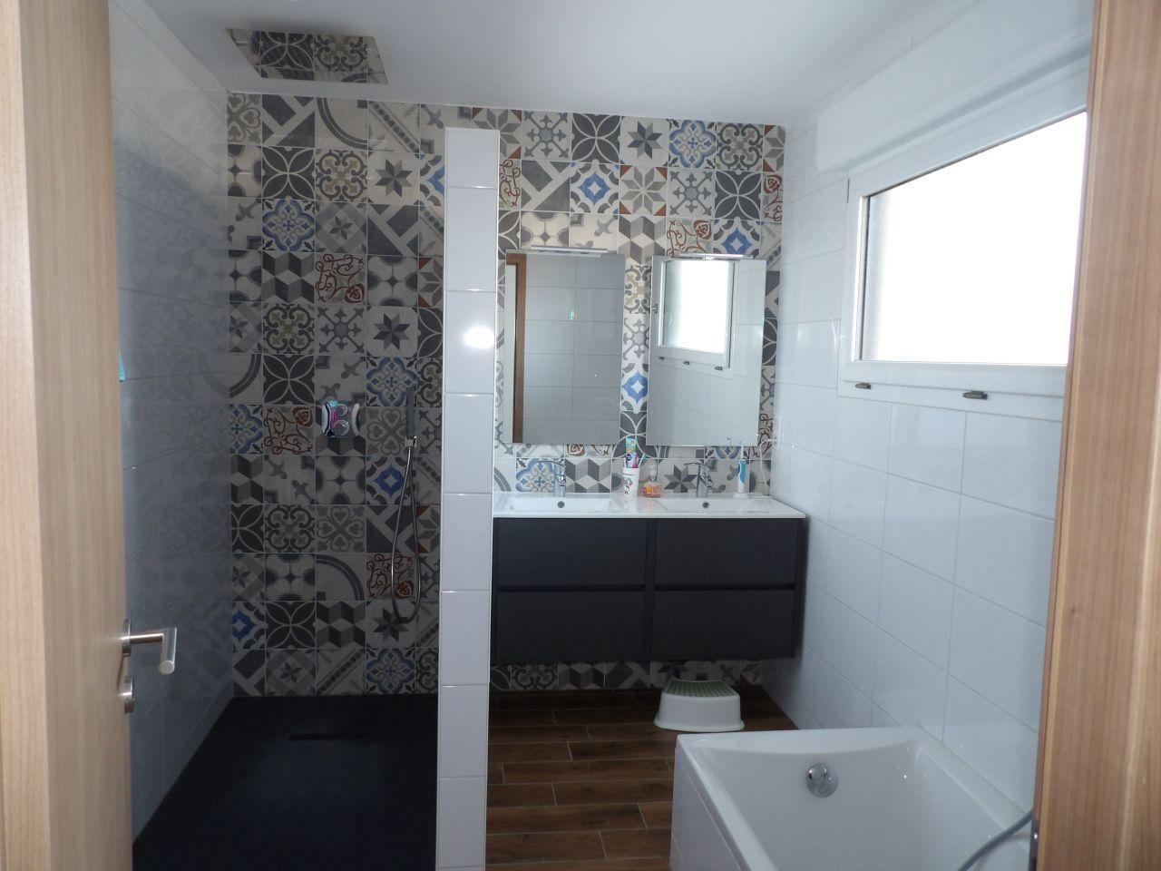 Notre belle salle de bain, douche a l\'italienne receveur en ...