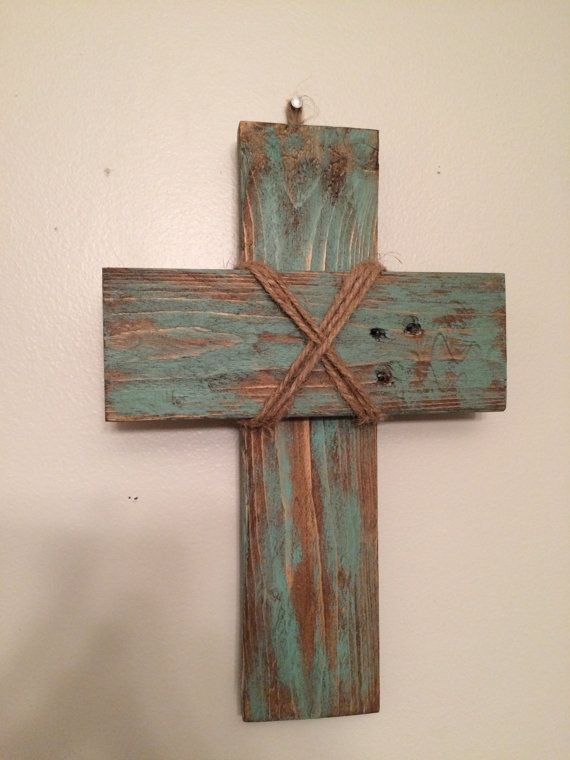Small rustic pallet cross by LivingReclaimed on Etsy                                                                                                                                                      More