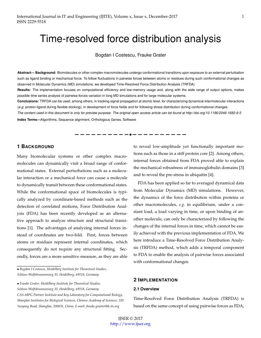 Ijser Publishing International Journal Of Scientific Within Journal Paper Template Word Journal Template Paper Template Journal Paper