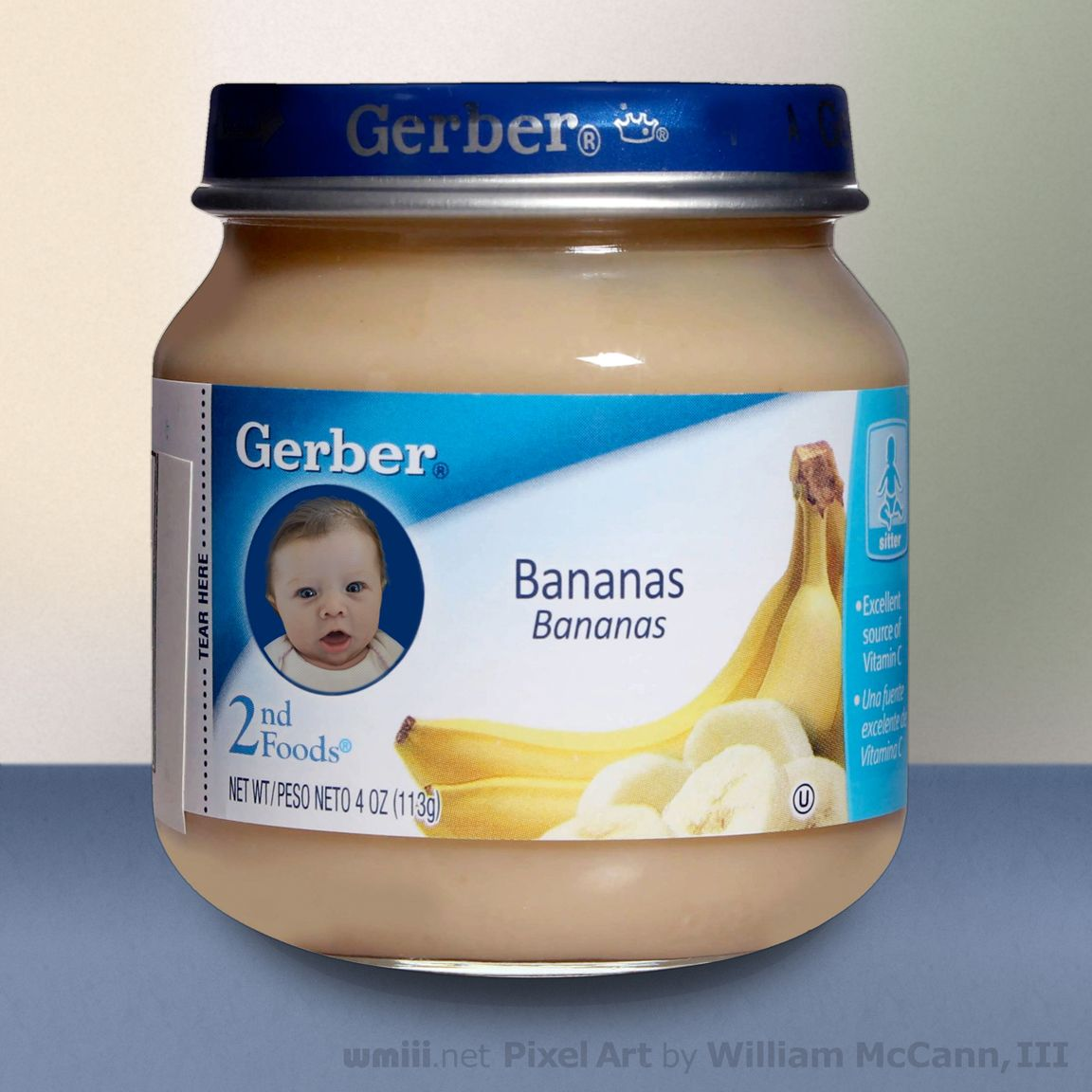 Artist's conception of how my granddaughter Stella would look on Gerber Baby Food. I'm the artist.