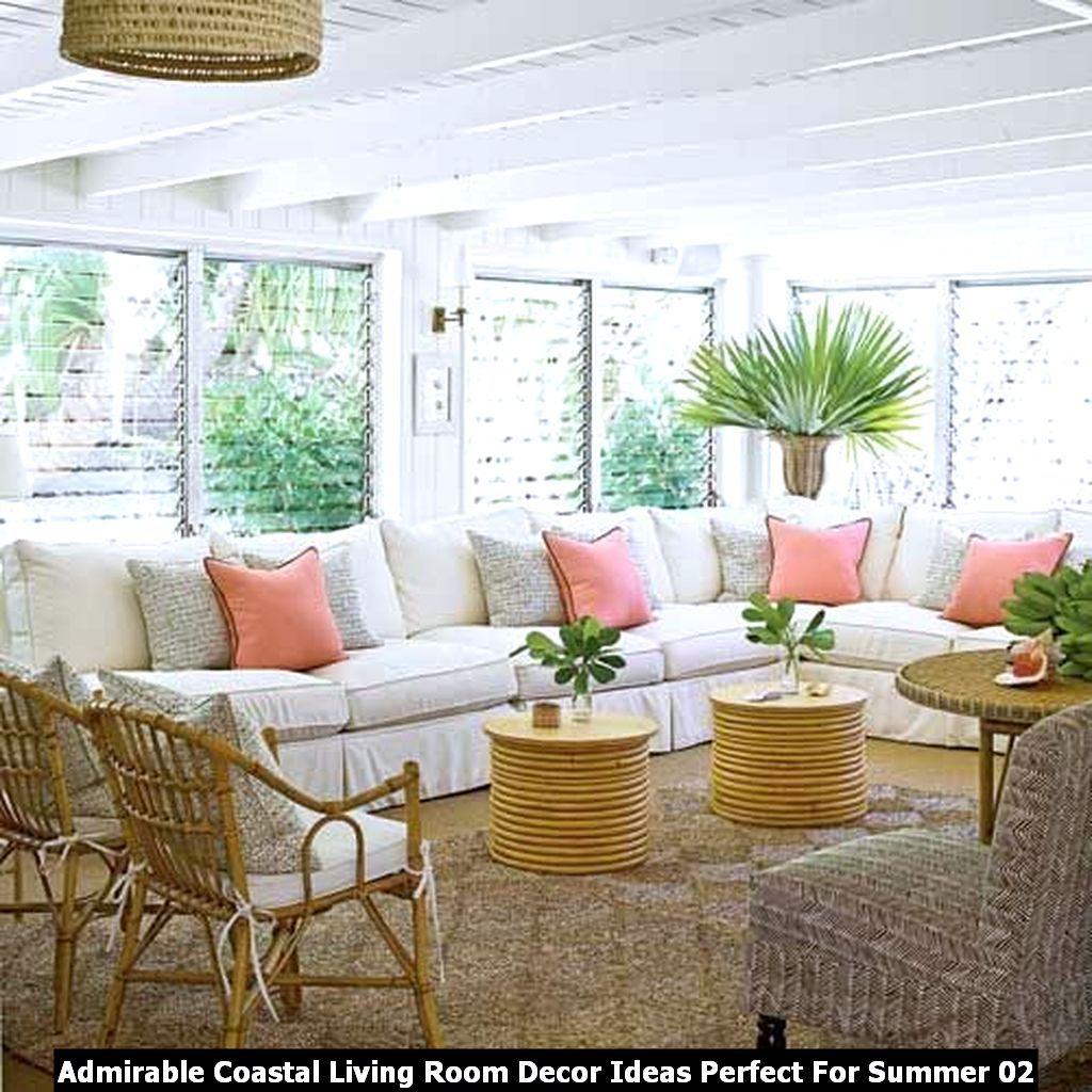 Admirable Coastal Living Room Decor Ideas Perfect For Summer Pimphomee Tropical Home Decor Coastal Living Rooms Coastal Decorating Living Room