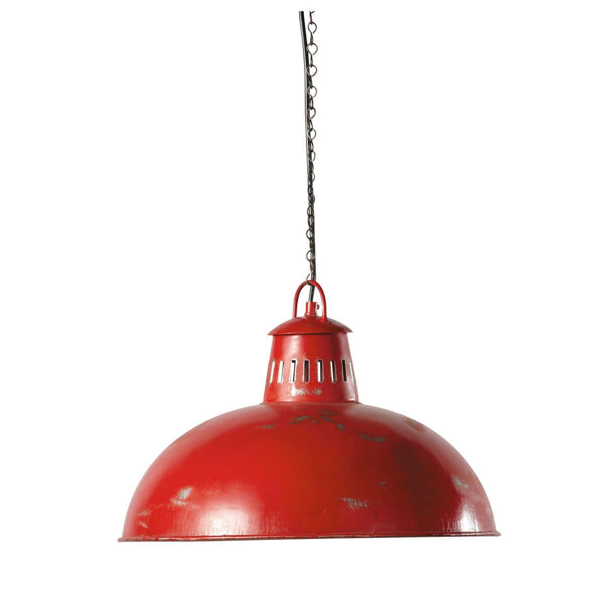 Hängeleuchte Im Industrial Stil Aus Metall, D 41 Cm, Rot