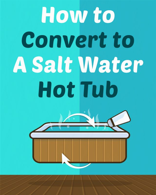 How to Convert to a Salt Water Hot Tub   Hot tubs, Tubs and Water