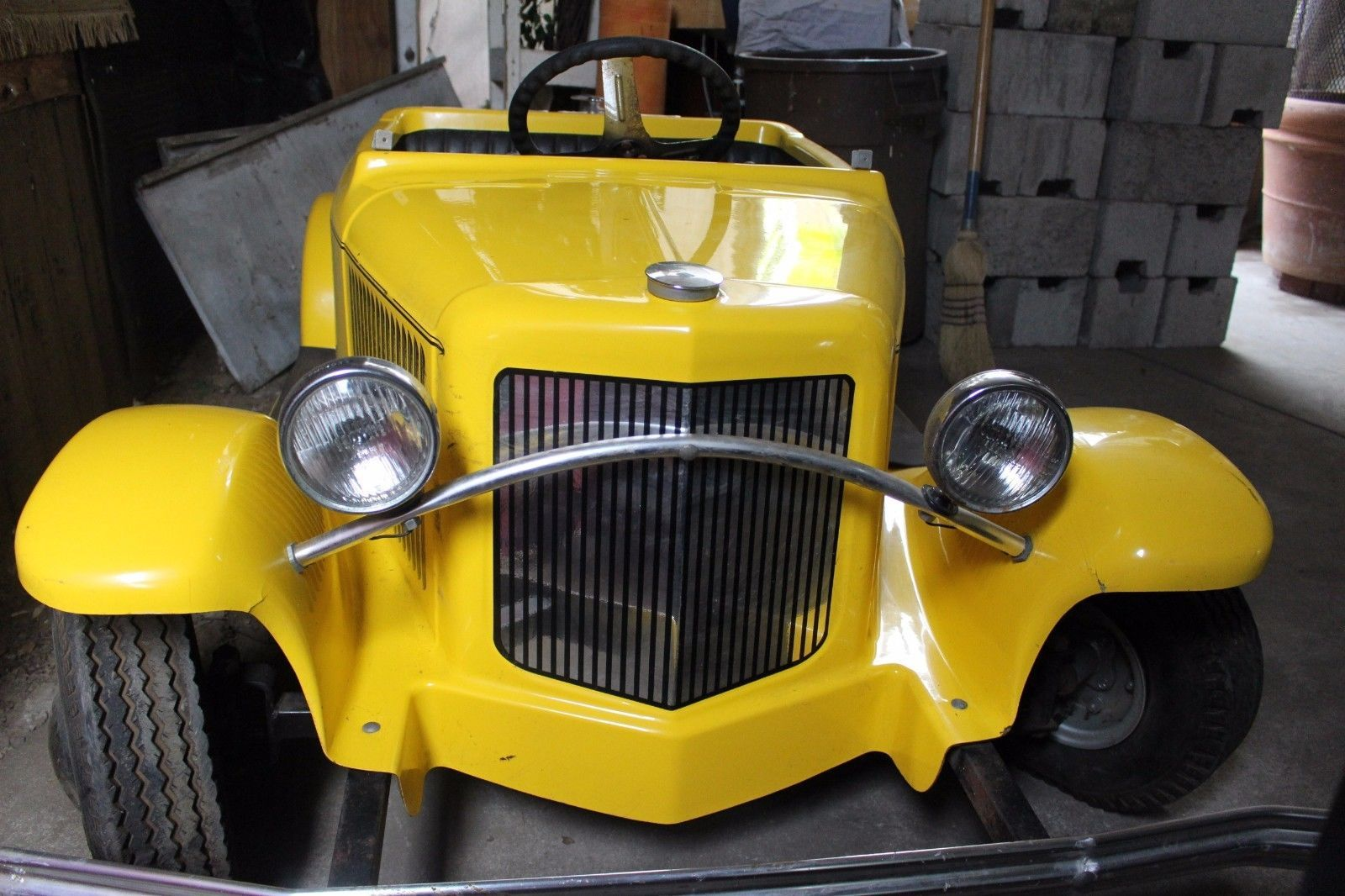 Rare 1932 Ford Mini Coupe Custom 2 Seater Convertible Leather Top By