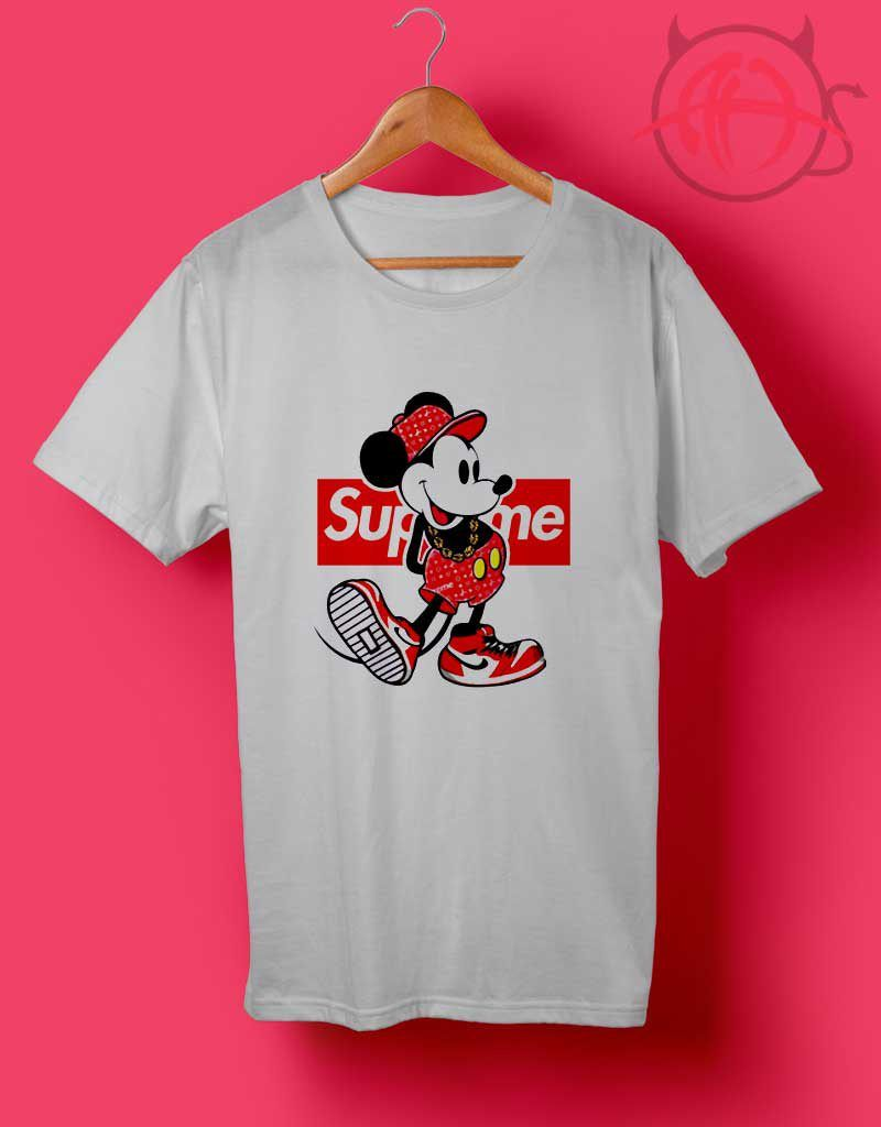 757920b877836 Old Disney Mickey Mouse Style Supreme T Shirt | Outfit T Shirt in ...