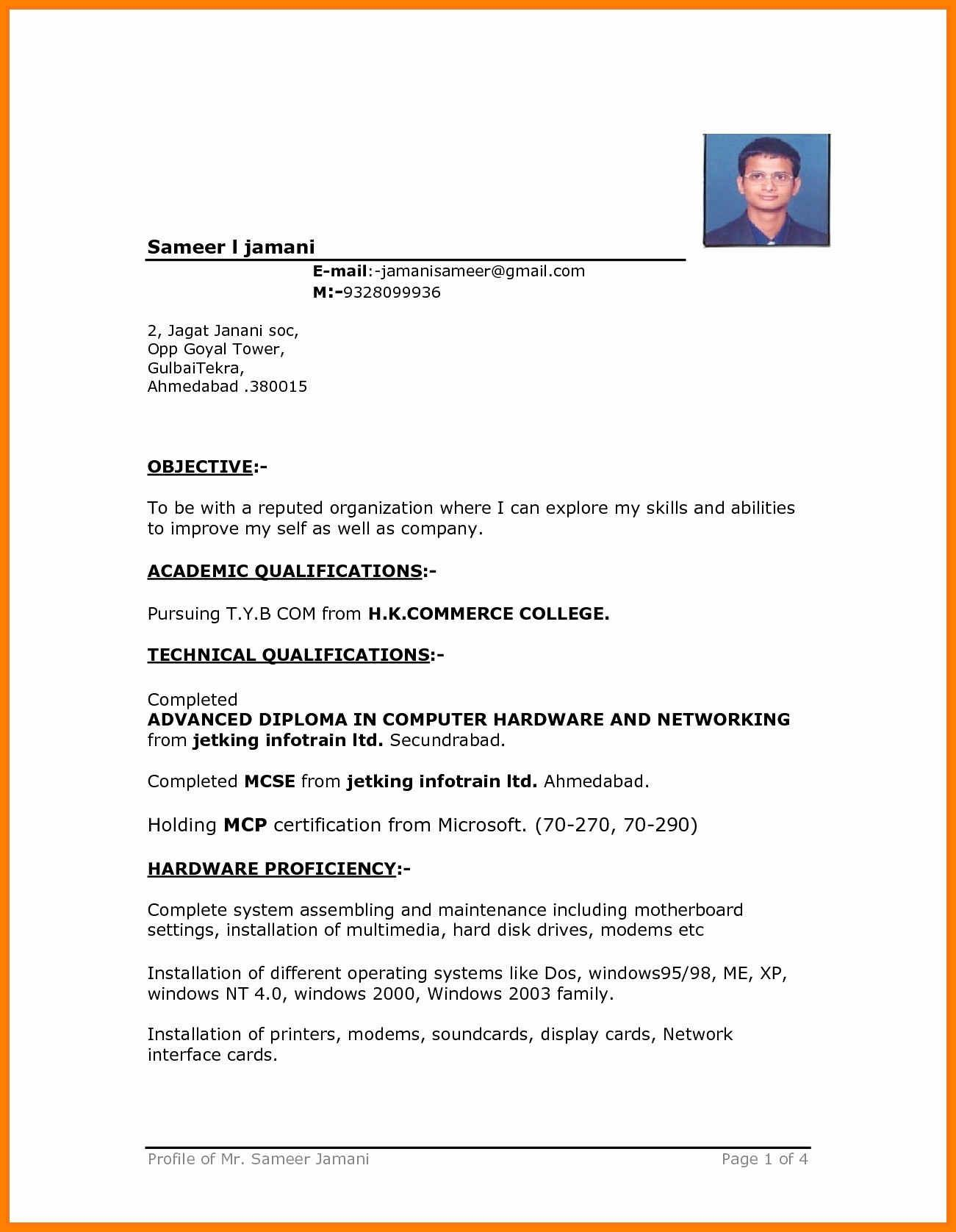 Resume Format In Microsoft Word Image Result For Driver Cv Format Cv Examples Sample Resume