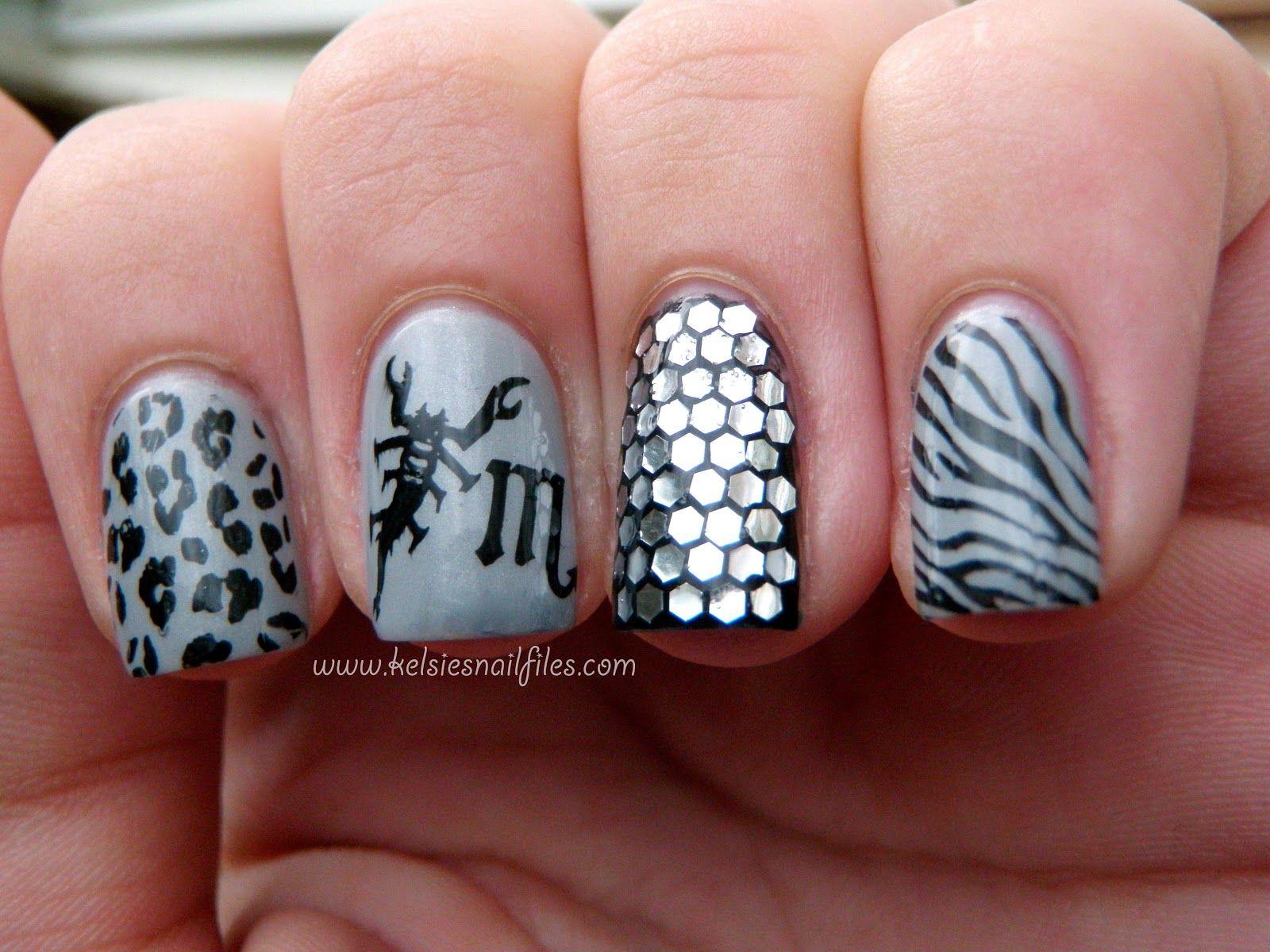 21 Impressive Scorpio Nails You\'ll Totally Adore   Nail Design Ideaz ...