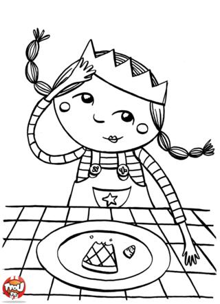 Coloriage Galette Et Fève Coloriage Princess King Et Epiphany