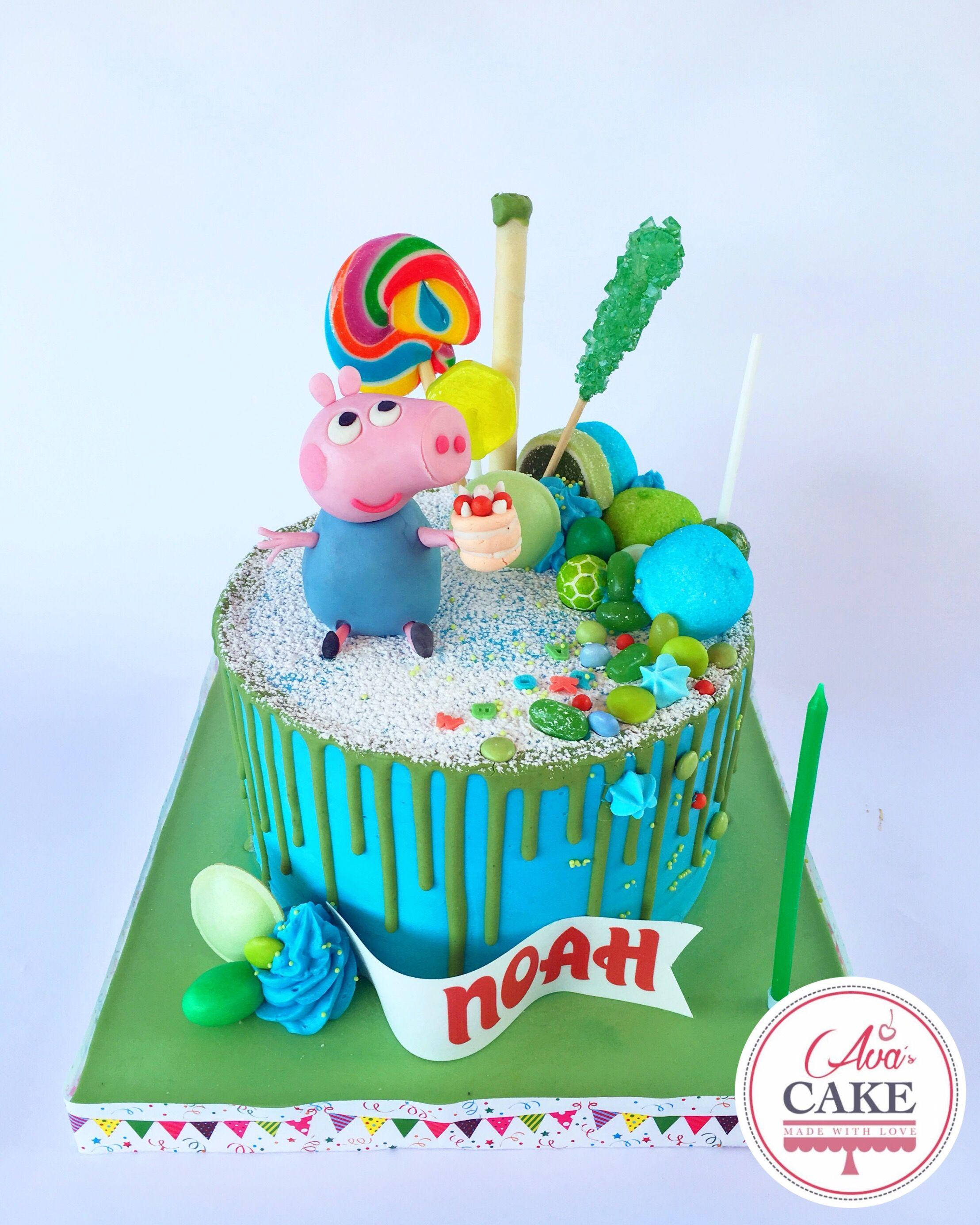 Peppa Pig Drip Cake With Images Peppa Pig Cake Kids Cake Cake
