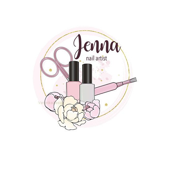Nails Logo Nail Artist Logo Custom Logo Design Nail Salon Logo