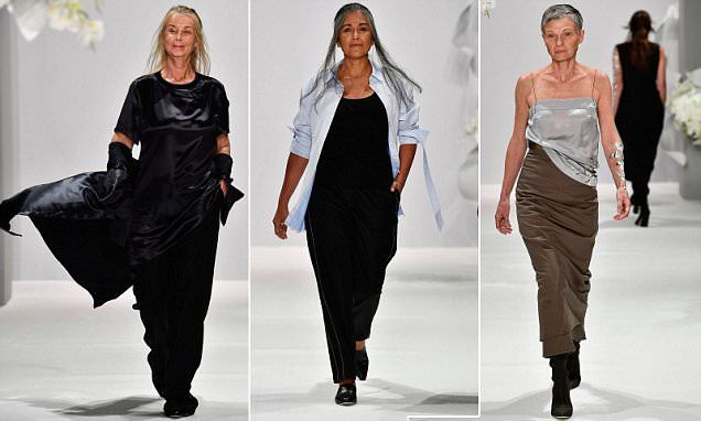Older models hit the runway at Thomas Puttick's fashion show