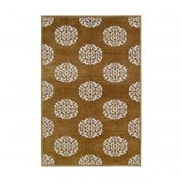 Chestnut Mandala Chenille Metallic Carpet 8x10