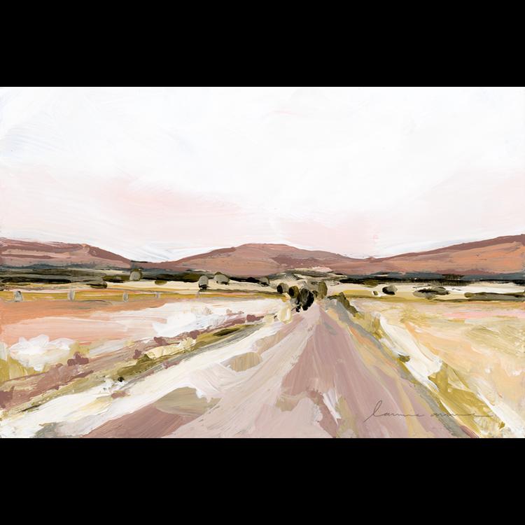 """Desert Road"" Horizontal Canvas Print  — Laurie Anne Art"