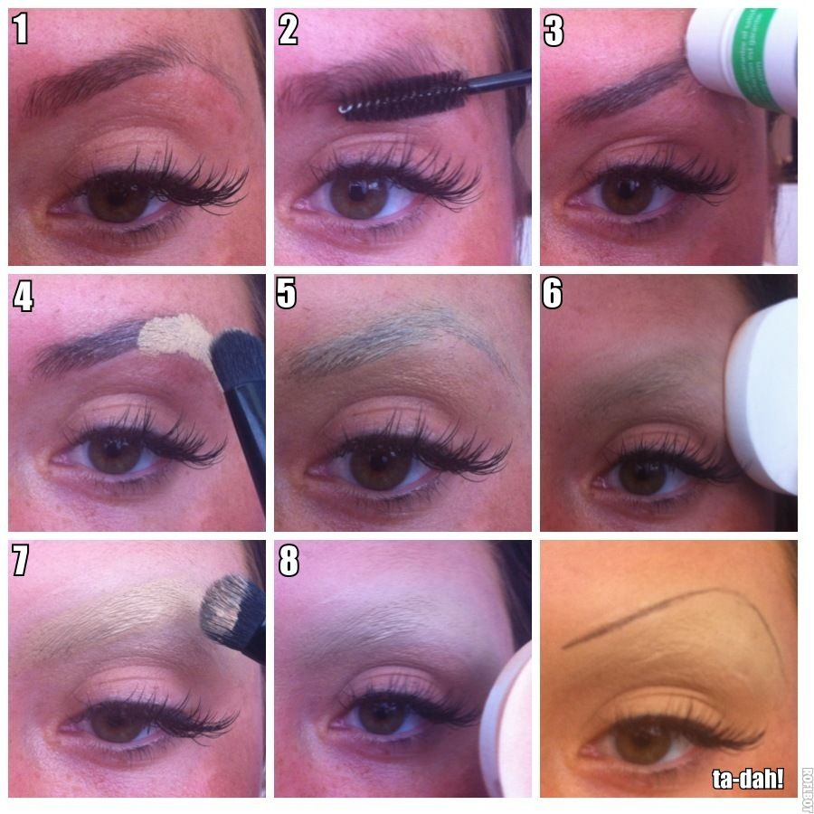 How To Cover Brows And Also Create A New Brow Crease Shape Great For Full Face