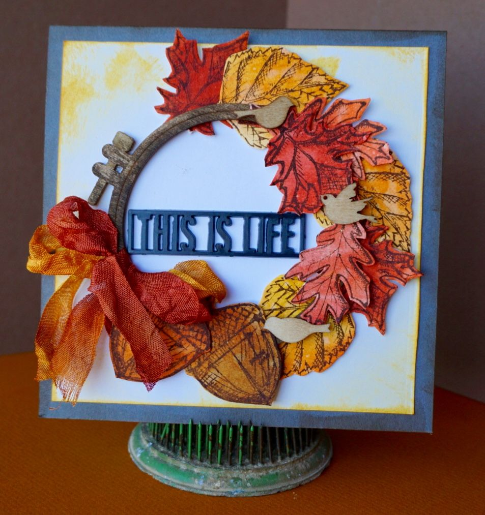 Beautiful Creation by Maura for the Simon Says Stamp Monday challenge (Autumn is in the Air)