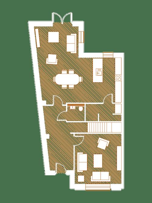 Best Ground Floor Contemporary Internal Doors Oak Handrail 640 x 480