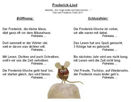 berta hummel schule frederick lese woche 2011 mausfrederick kindergarten lieder kinder. Black Bedroom Furniture Sets. Home Design Ideas