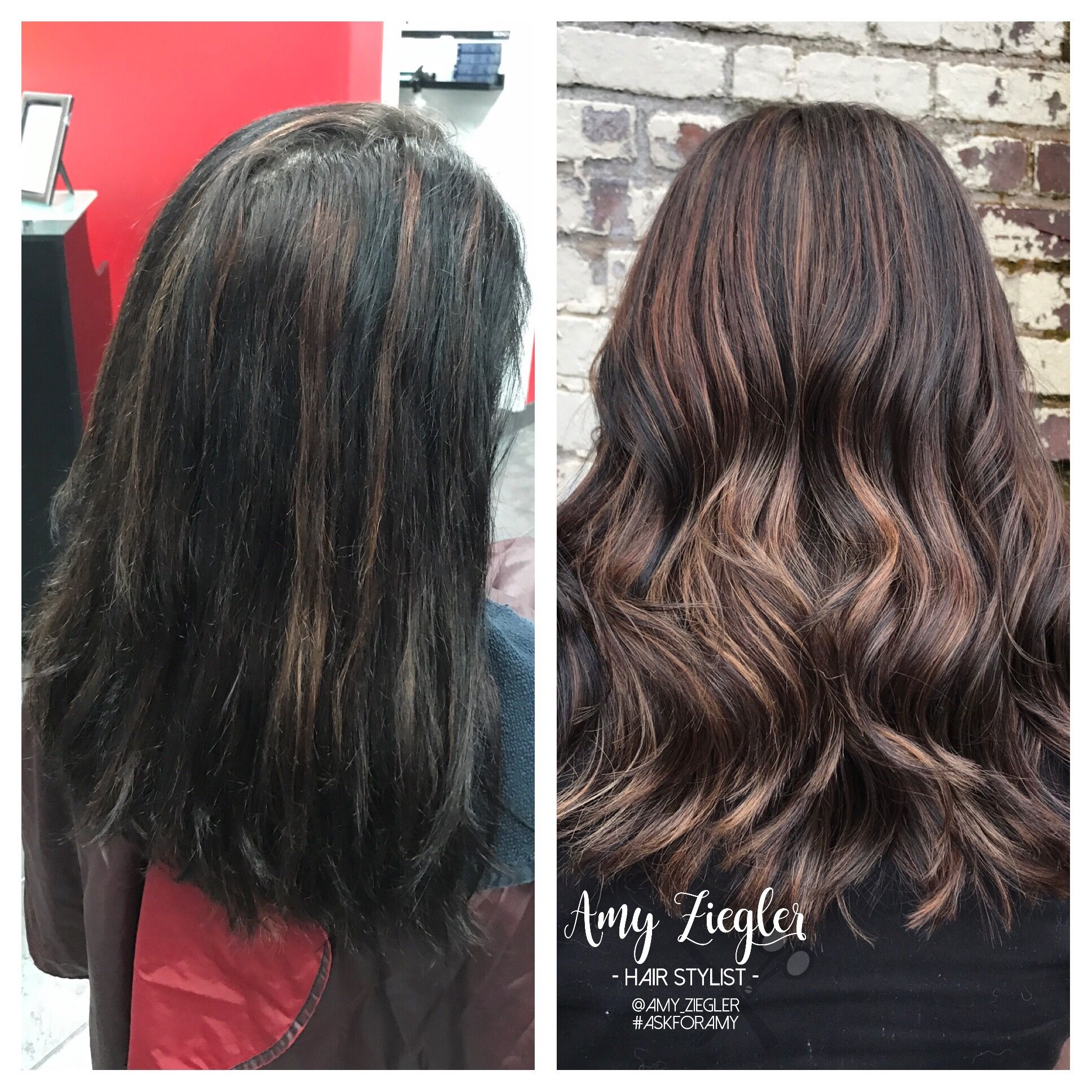 From Black Hair To Full Head Highlight For Lighter Look By
