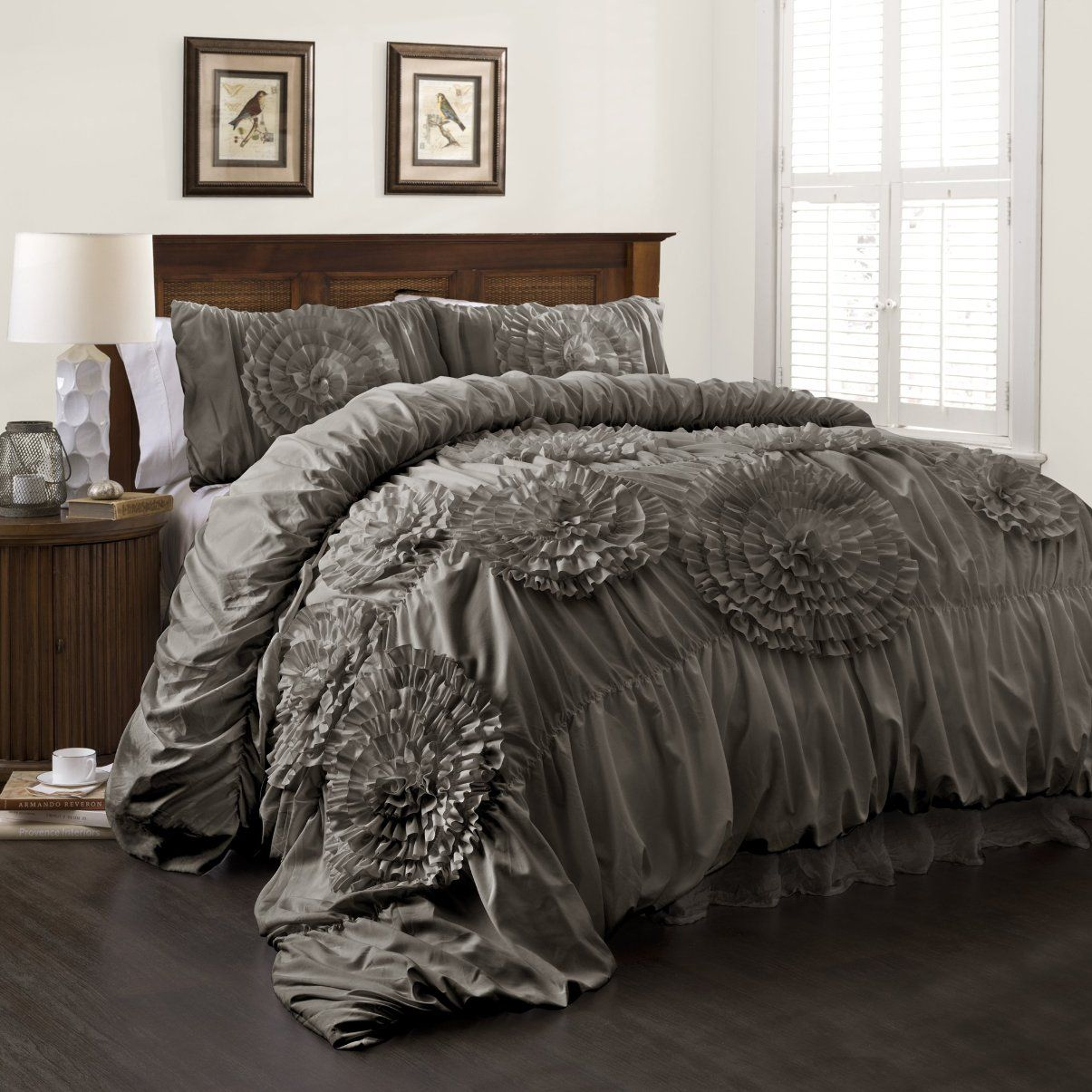 Serena 3 Piece Comforter Set Comforter Sets Bedroom Design Bed