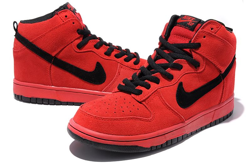 new concept 137b0 e8a7d Nike Dunk High Pro SB Red Black 305050 600 - Nike Dunk High Tops .