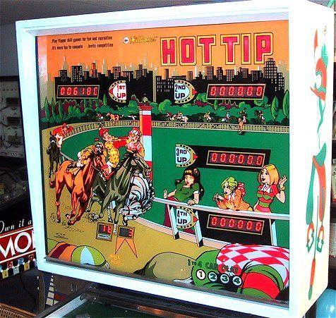 Williams Hot Tip Pinball Machine Backglass 1977 Arcade Game Room Pinball Pinball Wizard