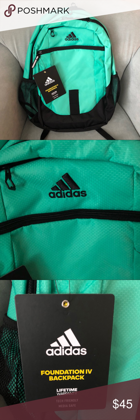 dbf980acb1 New Adidas Backpack New with tags attached Adidas Backpack in a beautiful  green color! There s