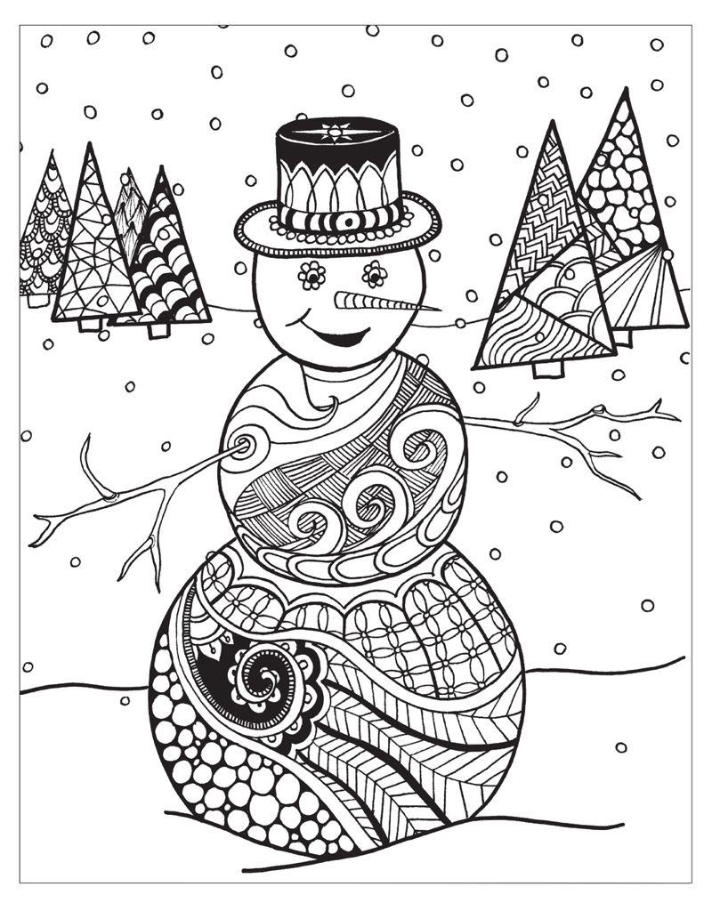 Zendoodle Coloring Winter Wonderland Jodi Best Macmillan Snowman Coloring Pages Coloring Pages Winter Christmas Coloring Pages