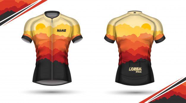 Cycling jersey, front and back Premium V... | Premium Vector #Freepik #vector #design #woman #fashio...