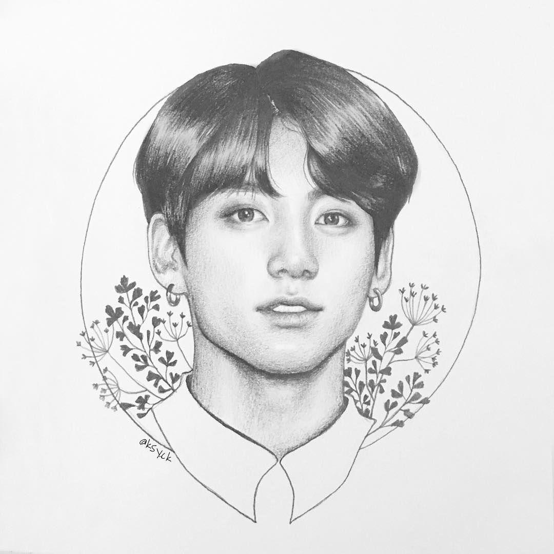 Jungkook Bts Drawings: Pin On JEON JUNGKOOK // JK