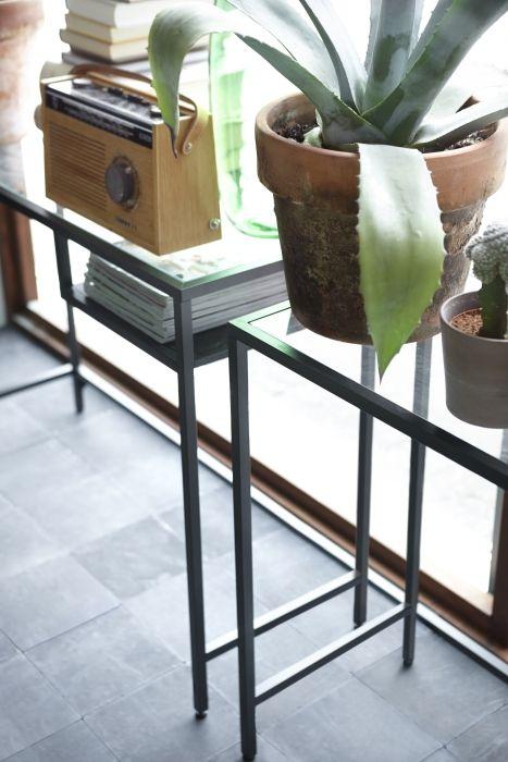 VITTSJÖ Laptoptafel, zwartbruin, glas | Pinterest | Einrichtung