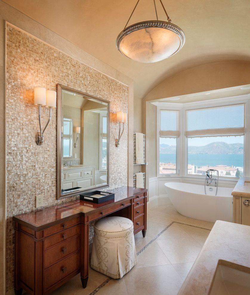 Mother Of Pearl Bathroom Bathroom Traditional With Mother Of Pearl Accent  Wall Bathroom Mirror