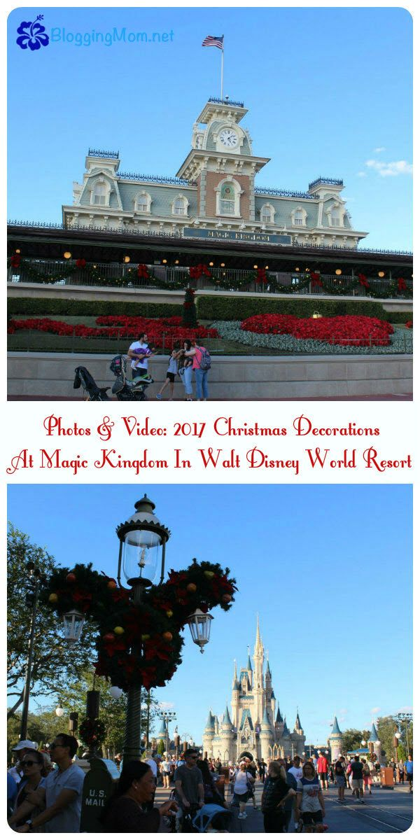 photos video 2017 christmas decorations at magic kingdom in walt disney world resort decoration walt disney and resorts - Disney World Magic Kingdom Christmas Decorations