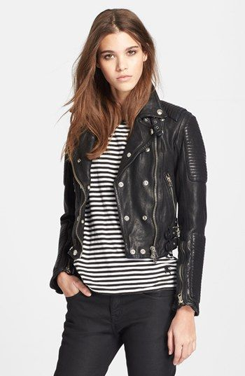372797500b5b7f Burberry Brit 'Losley' Leather Moto Jacket | Nordstrom $2,495 of pure  amazing. Cara Delevingne owns this jacket. I need it.
