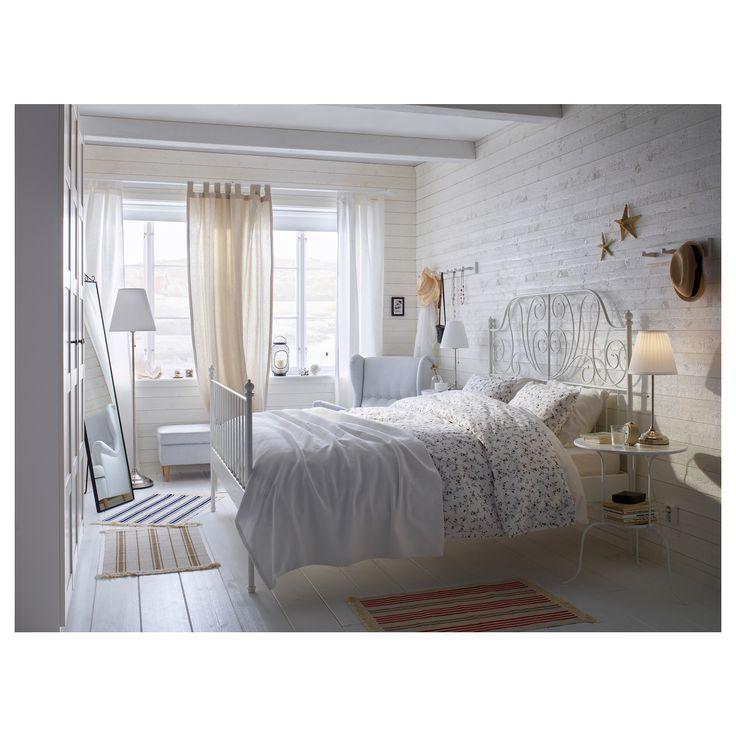 IKEA - LEIRVIK Bed frame white, Espevär | Bed frames, Bedrooms and ...