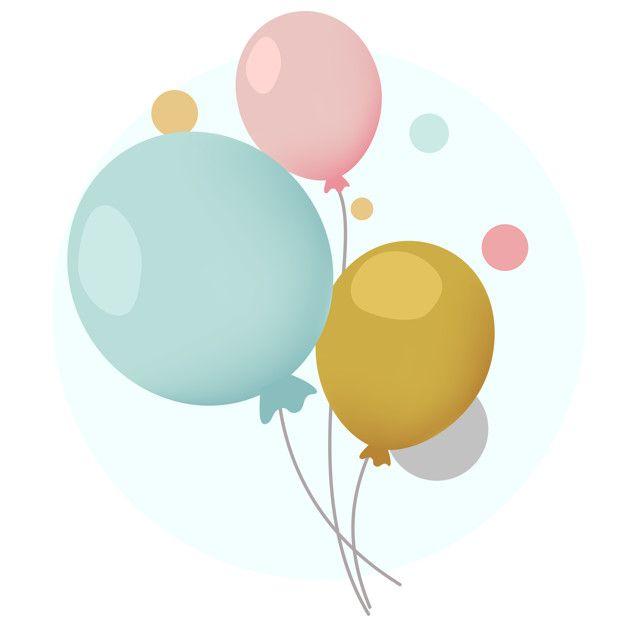 Download Colorful Festive Balloons Design Vectors For Free Ilustracao De Balao Vetores Free Design De Cartao De Aniversario