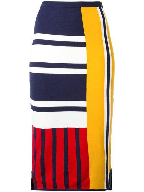 900f7b1a TOMMY HILFIGER Patchwork Print Midi Skirt. #tommyhilfiger #cloth #skirt