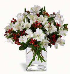 Winter Silk Flower Arrangements | Festive floral arrangement for #Christmas // precioso centro de mesa ...