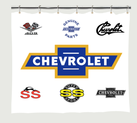 Chevrolet Badges Shower Curtain