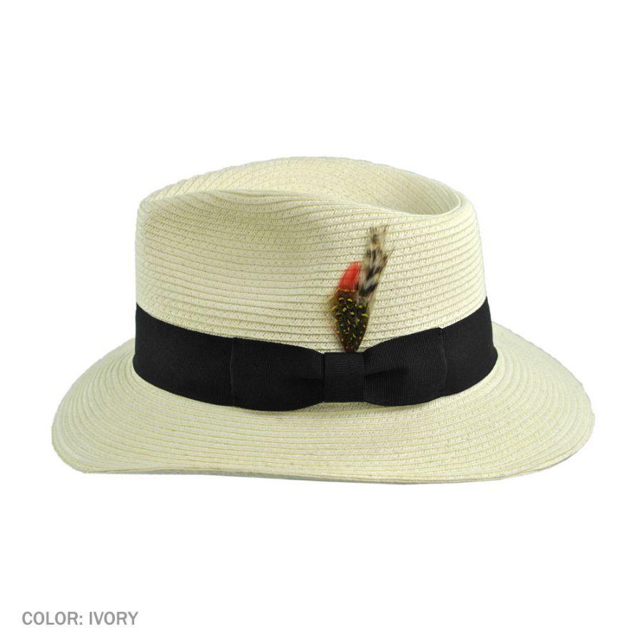 Jaxon Hats Summer C-Crown Toyo Straw Fedora Hat 22e0c287d6b