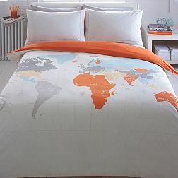 World print map bedding set pinterest debenhams ben de lisi home light grey world print map bedding set from debenhams gumiabroncs Images
