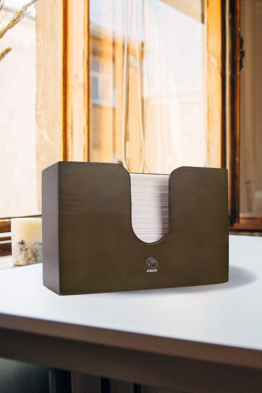 Ebun Multifold Paper Towel Dispenser In Caramel Brown Towel