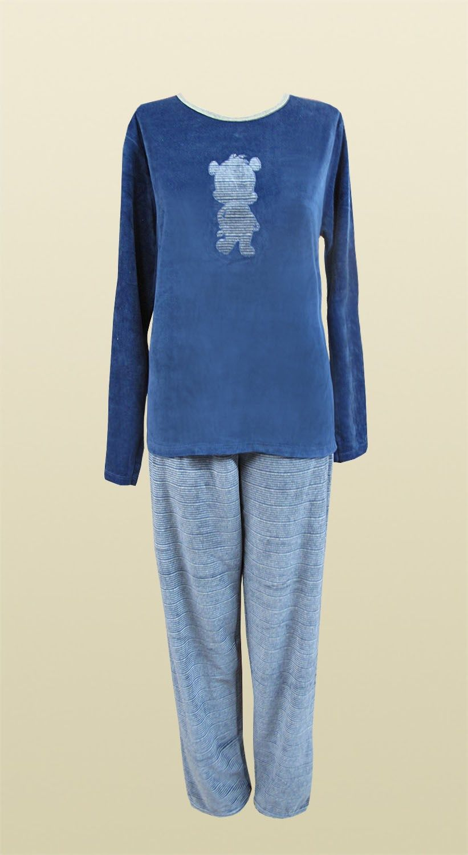 Pijama Longo em Plush Boucle Soneca - Meia de Seda