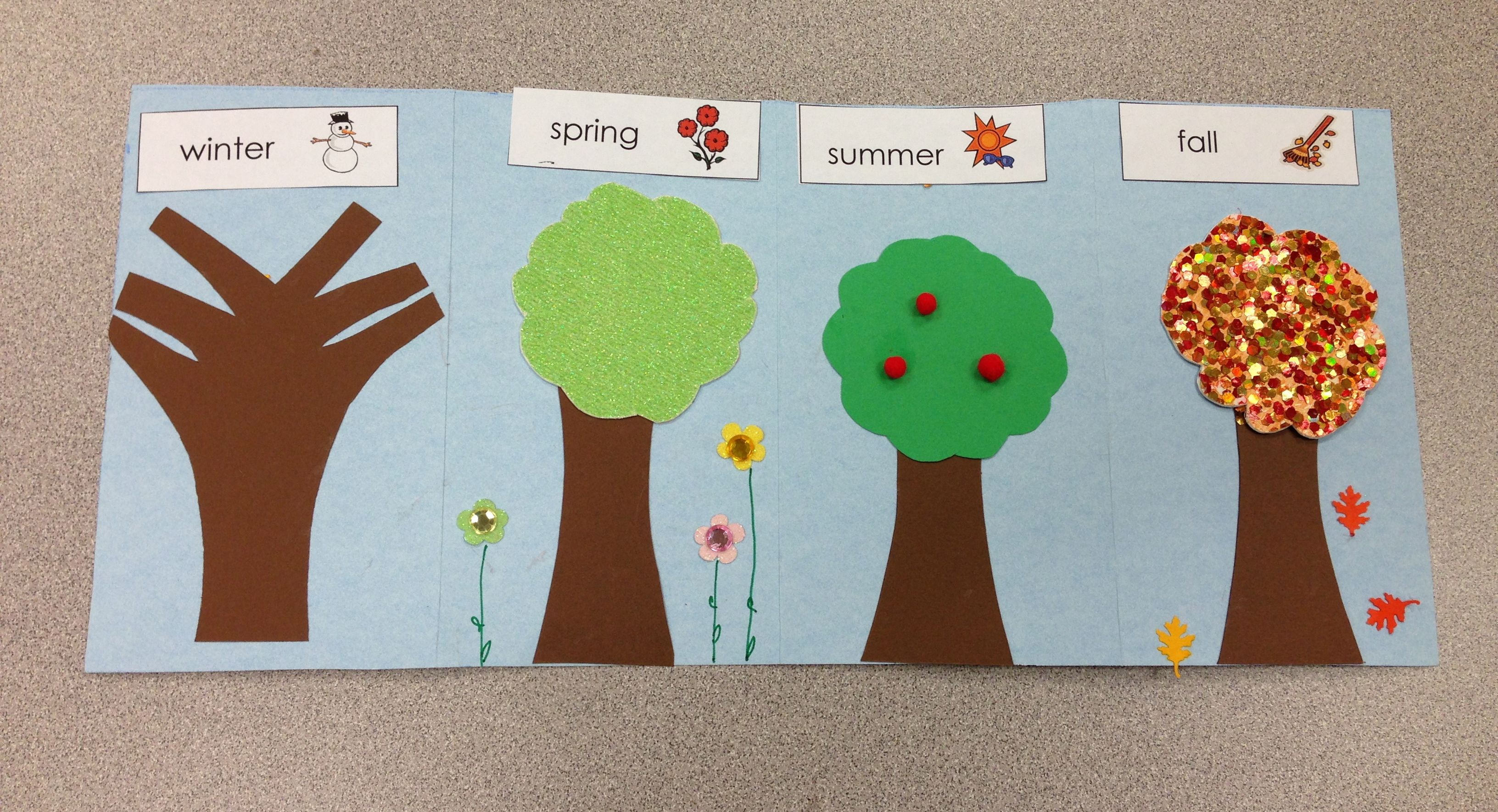 Four Seasons Tree Craft For Preschool Kindergarten