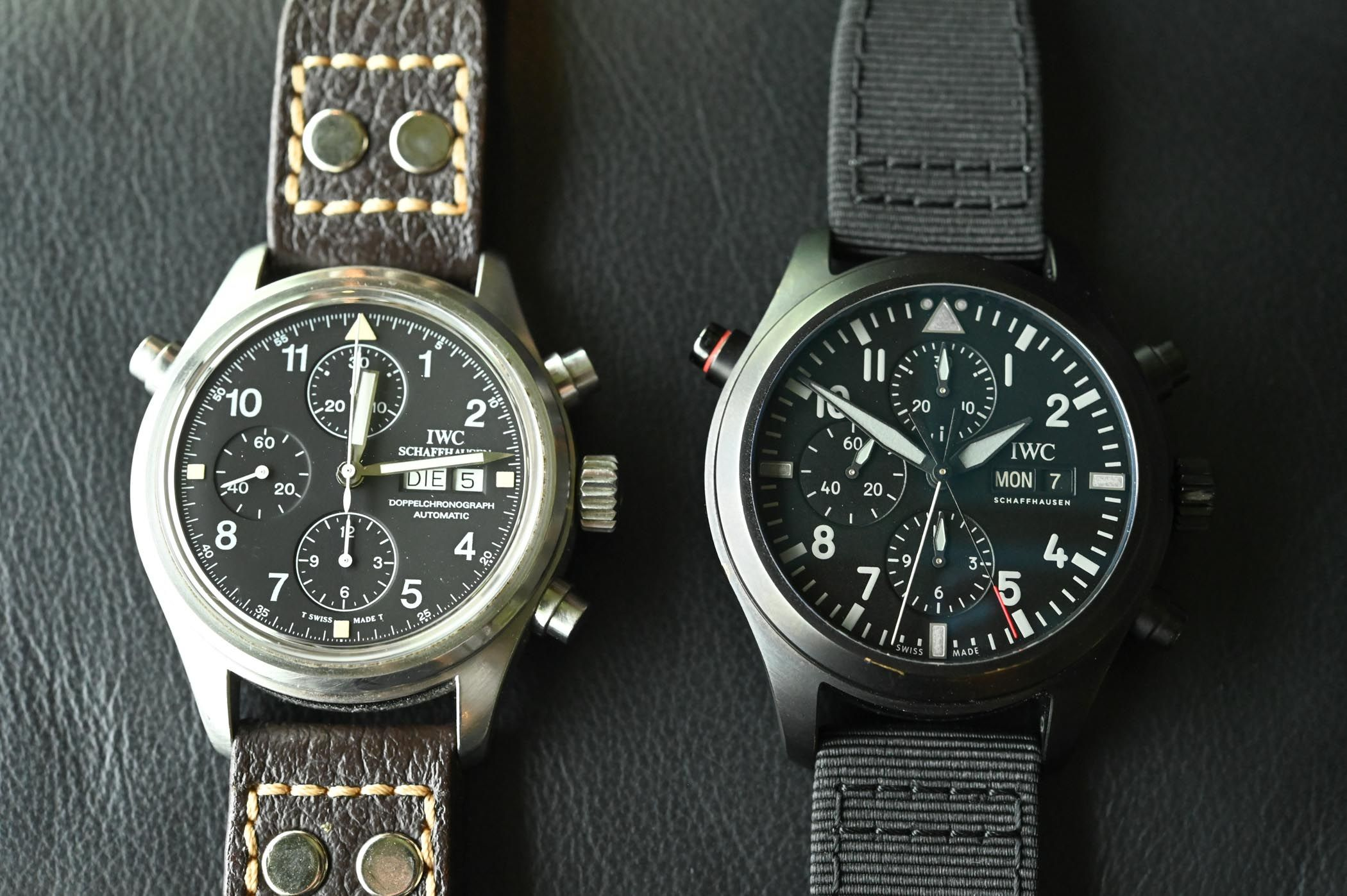 a69564101 Pre-SIHH 2019 - IWC Pilot's Watch Double Chronograph TOP GUN Ceratanium  (Specs & Price)