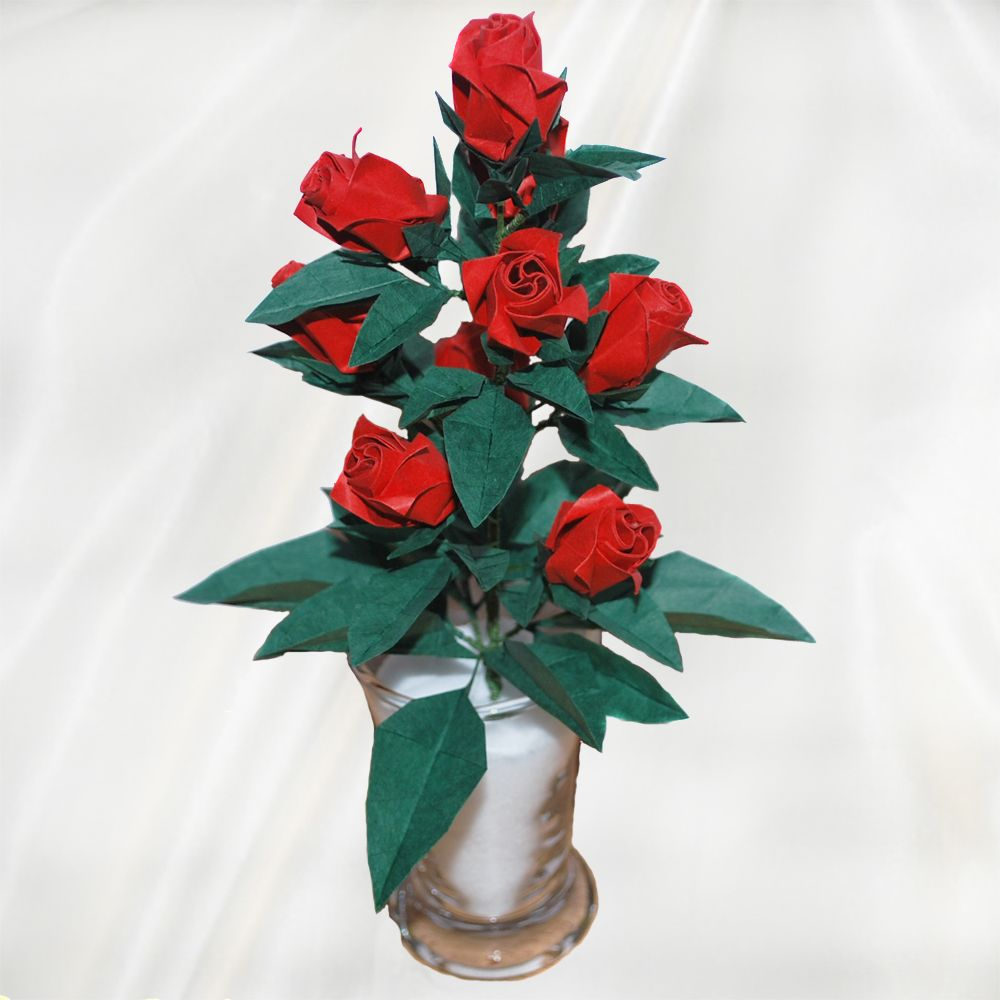 Home Origami Flower Gifts Origami Roses Origami Rose Buds I Like
