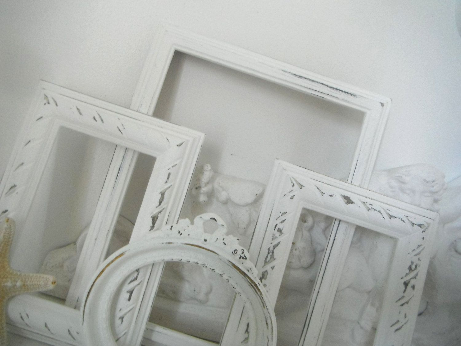 French country picture frames 4 piece shabby chic cottage ...