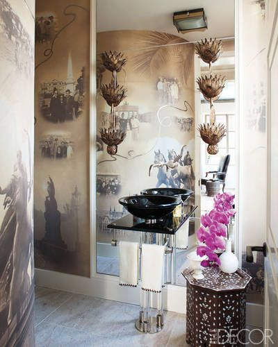 bunny williams transforms a park avenue penthouse the family powder and apartment interior. Black Bedroom Furniture Sets. Home Design Ideas