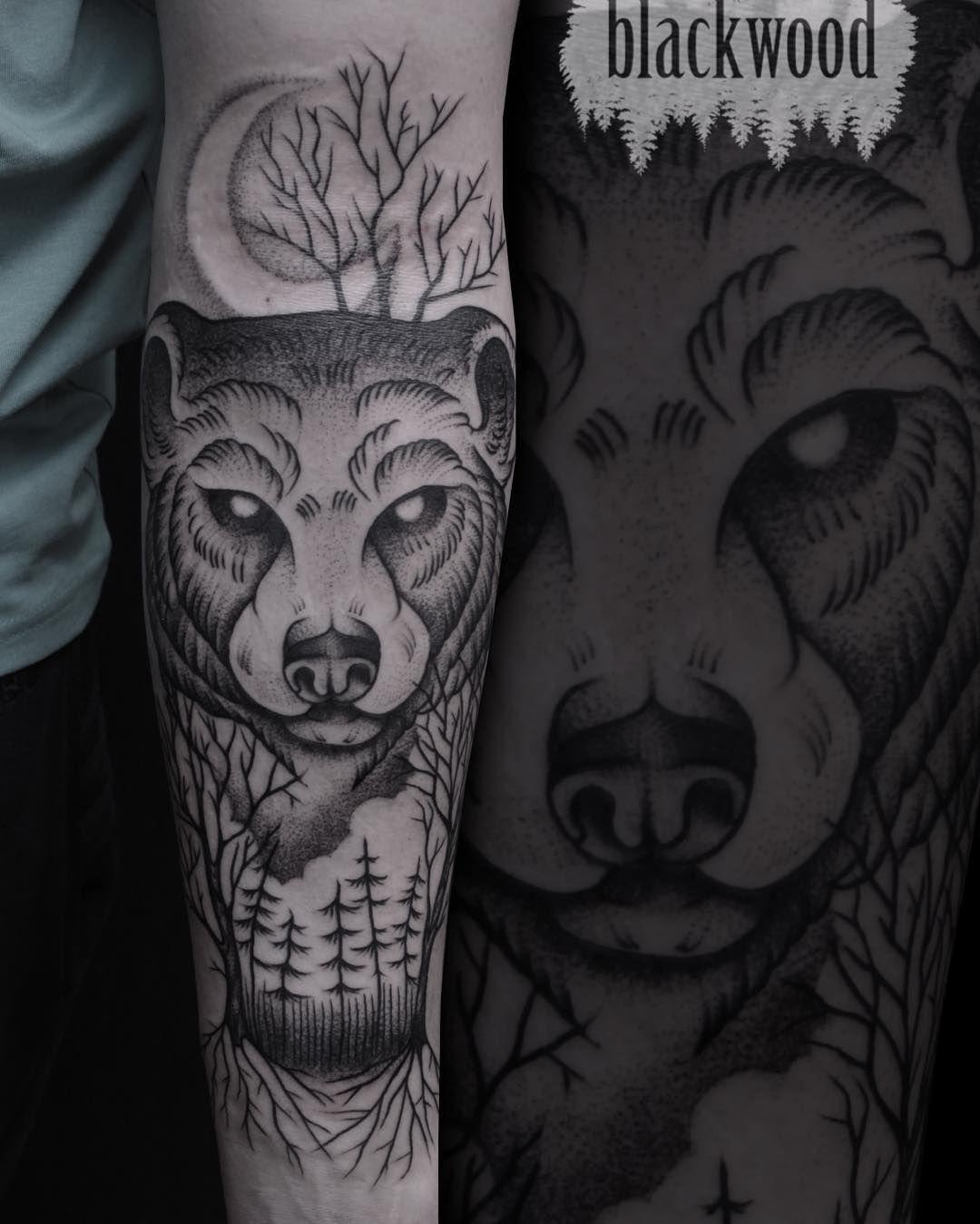 Bear tattoo meaning and symbolism bear tattoos tattoo and tatoos nightly bear tattoo idea buycottarizona Image collections