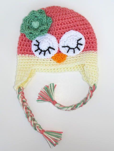 Girl Owl crocheted hat | Niños | Pinterest