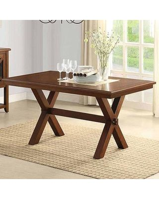 Better Homes and Gardens Better Homes and Gardens Maddox Crossing Dining Table, Brown from Walmart | BHG.com Shop